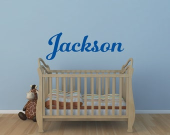 Boys Name Wall Decal Personalized Name Decal Girls Name Decal Monogram Decal Nursery Decor Name Decal Vinyl Wall Decal
