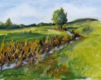Arroyo - original oil painting, plein air painting, California landscape