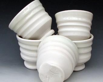 PORCELAIN TEA BOWL - Porcelain Juice Cup - Small Tumbler - Small Dessert Dish