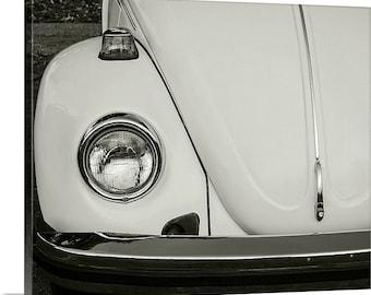 Vintage Bug 24x30 Large Canvas Print - Fine Art Photography - Home Decor - Gallery Wrap - Vintage Car - Black & White