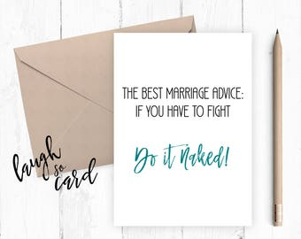 Marriage, wedding card, mr and mrs card, congratulations card, congratulations, funny wedding card, wedding cards, marriage advice