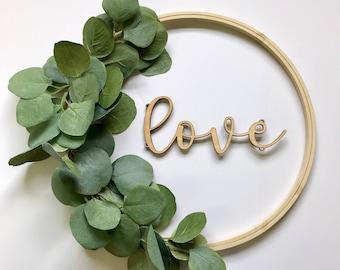Greenery Wreath (Wall Decor, Wedding Decor, Table Decor Centerpeice, Baby Shower Decor, Wall Hanging)