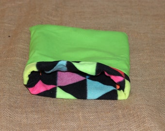 MEDIUM Lime Green Triangle Pouch for small pets- Guinea pigs, Rats, Rodents, Hedgehogs, Chinchillas...