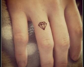 tiny tattoos diamond tattoos set of 20 fake tattoos temporary tattoos tiny diamond tats