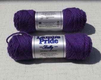 Regal Purple Lamb's Pride WORSTED Yarn, Purple, Destash
