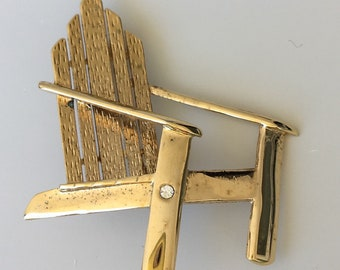 Vintage signed LC Chair Brooch .
