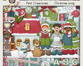 "KIT SCRAPBOOKING DIGITAL ""Christmas song"""