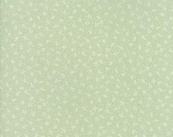 Fig Tree Fabric - Ella and Ollie Fabric Yardage - Moda Quilt Fabric - Small Aqua Green Floral Fabric By The 1/2 Yard -