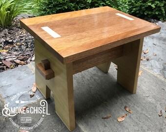 Handmade Step Stool - Poplar & Mahogany