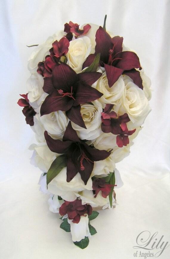 17 Pieces Package Silk Flower Wedding Decoration Bridal