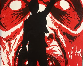 Evil Dead - Limited Edition Reduction Linocut Print
