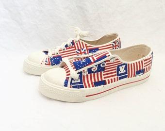 kids scottie american flag sneaker shoe size 3