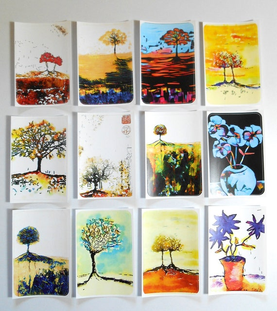 NEW **  Trees 3 - Large Fine Art Stickers