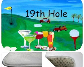 Golf 19th Hole bathmat from my art