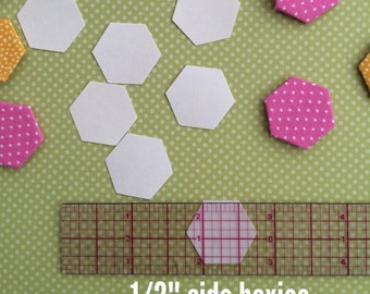 """150 Hexie templates - 1/2"""" sides"""