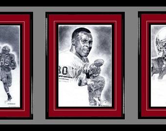 San Francisco 49ers ART- Vernon Davis, Jerry Rice & Ronnie Lott