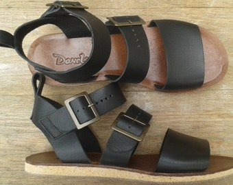 Donets Handmade Women Leather Sandals - Greek Leather Sandals - Roman Sandals - Natural Leather Sandals