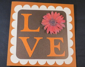 Happy Mother's Day Card Love Gerbera Flower
