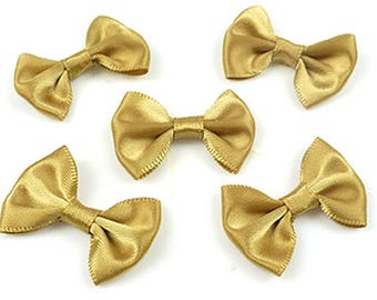 36 bow satin color old gold 34x24mm