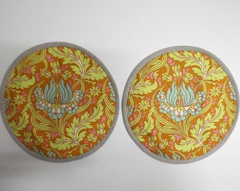 Set of 2 Aga lid covers, mats. Soul Blossom collection from Amy Butler.