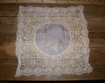 Maltese lace wedding handkerchief