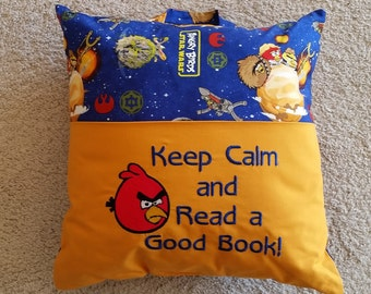"Reading Pillow -  ""Keep Calm and Read a Good Book!"""