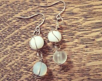 Wine Pearl Earings