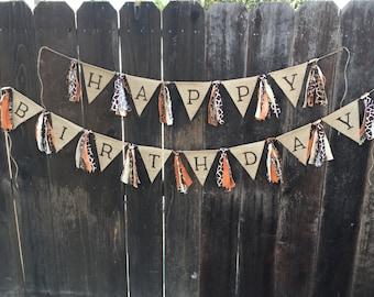 Safari Banner, Jungle Banner, Happy Birthday Banner, Lion King Inspired Banner, Safari Birthday, Jungle Birthday, Party Decor,Burlap Banner,