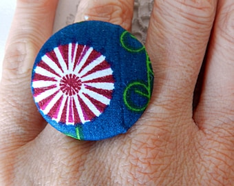 Fabric flower Adjustable ring