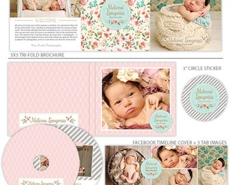 Marketing Set for Photographers, Photography Branding, Template for Photographers - Belles Fleurs - MK139A