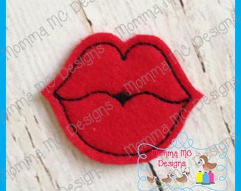 Lips Felt Feltie Embroidery Design