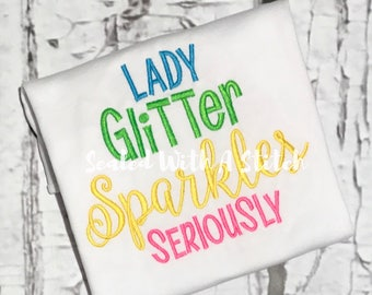 Lady Glitter Sparkles Seriously - Trolls Shirt