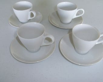 Mikasa Demitasse Set Of 4 Cups & Saucers