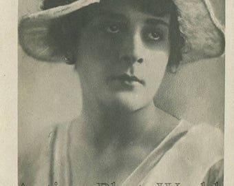 Zoe Karabanova Russian silent film star antique photo postcard