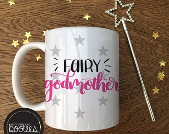 Fairy Godmother Handmade printed mug