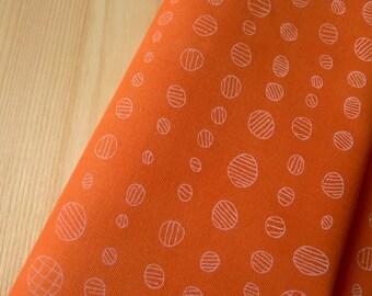 Doe Droplet Circles Carrot Orange Dots AFR-15030-151 Carolyn Friedlander Robert Kaufman - Half Yard - Modern Quilting Sewing Cotton Fabric