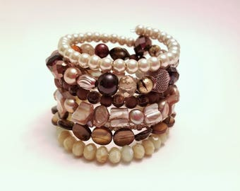 Wrap Bracelet - Boho Bracelet - Cuff Bracelet - Bracelet - Beaded Bracelet - Jewelry - Gift for Her