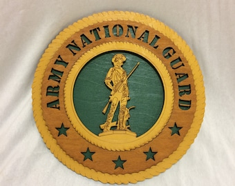 Army National Guard Wall Plaque Wooden Model