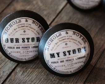 """Vintage Knobs The Books Series Newest Design - """"My Story"""""""