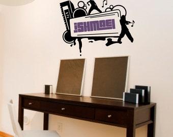 Street Dance Name Frame - Vinyl Wall Decal