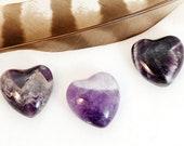 AMETHYST Heart Stones | Amethyst Crystal Heart | Chakra Stones | Recovery Gift | Wedding Favor | Healing Crystals Stones | Energy Crystals