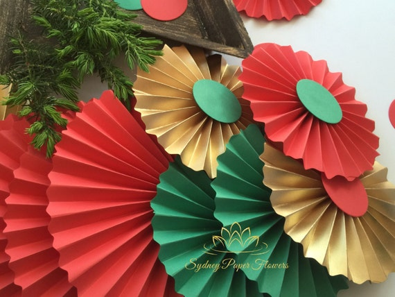 Christmas paper fans backdroppaper rosettespinwheelhome mightylinksfo
