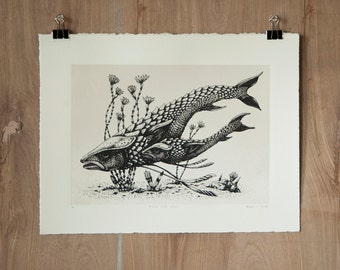 Shallow Water Kusari - Silkscreen Print - Scientific Study