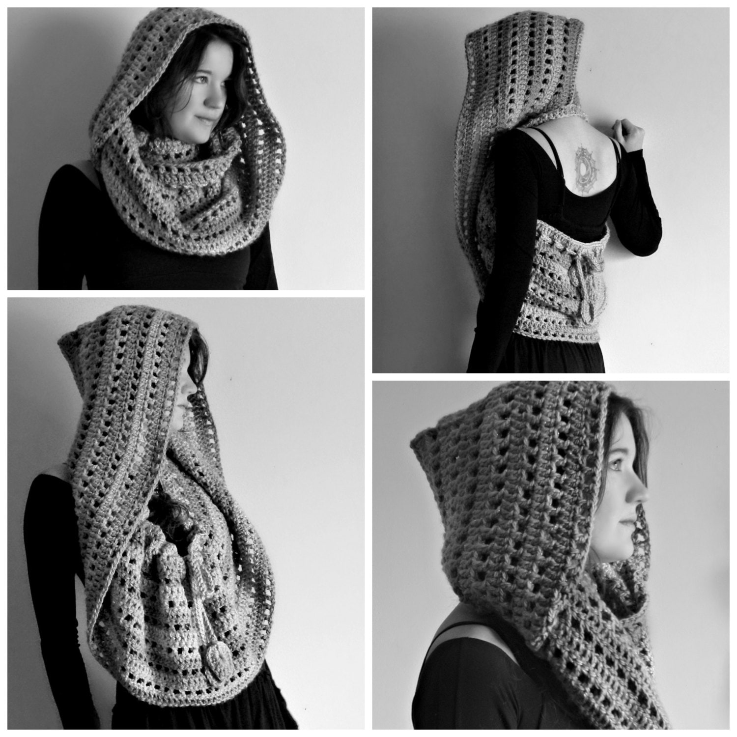 Crochet PATTERN: Rhiannon Hooded Cowl / Easy Crochet Pattern / Pixie ...