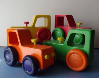 Tractor wooden kids in several colors