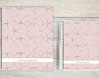 Planner | 2018 Planner | Weekly Planner | Hourly Planner | Custom Planner | Personal Planner | Life Planner |  faux rosegold circles