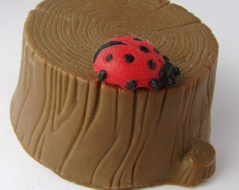Stump Soap with little Ladybug
