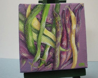 String Beans Painting and Easel