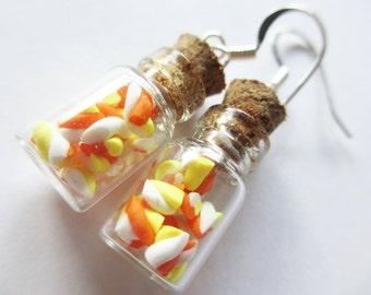 Halloween Marshmallow Jar Earrings