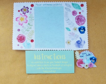 Flowers and Bunnies Patch Kit Greetings card